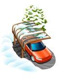 Auto onder de luifel Royalty-vrije Stock Afbeelding