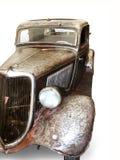Auto op de witte achtergrond stock fotografie