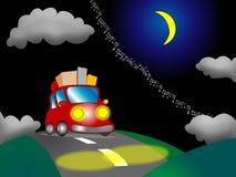 Auto op een achtergrond van de nachtaard Royalty-vrije Stock Afbeelding