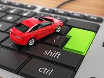 Auto op het toetsenbord royalty-vrije illustratie