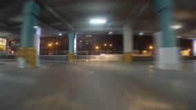 Auto op parkeren stock footage