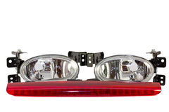 Auto parts. fog lights, stop signal Stock Photography