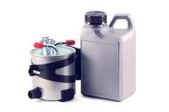 Auto parts.fuel-filter. diesel. Royaltyfria Bilder