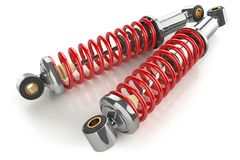 Auto parts. Kit of shock absorbers. Stock Image