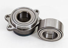 Auto Parts. Spare parts for the repair of cars. Bearings on a wh Royalty Free Stock Photography