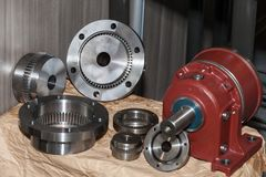 Auto parts of vehicles, parts for vehicle engines. Parts of automobile engines; spares Stock Image