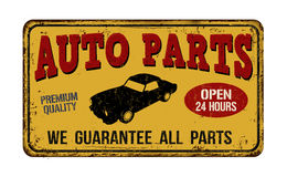 Auto parts vintage  metal sign Stock Photo