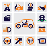 Auto pictogrammen Stock Afbeelding