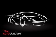 Auto pojęcie pojazdu projekt z modela stylu nakreślenia sportów samochodem Obraz Stock