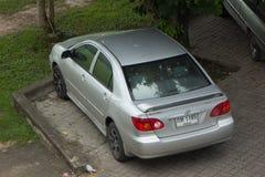 Auto privata Toyota Corolla Altis fotografia stock