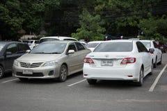 Auto privata Toyota Corolla Altis fotografie stock