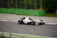 Auto prov för GP-formelbil på Monza Arkivbilder