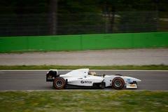 Auto prov för GP-formelbil på Monza Arkivfoto