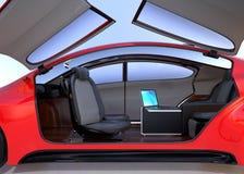 Auto que conduz o conceito do interior do carro ilustração stock