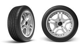 Auto-Räder Stockfotos