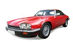 auto rött retro royaltyfria foton