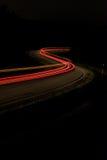 Auto-Rücklichter nachts Lizenzfreie Stockfotografie