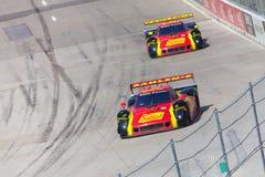 Auto Racing Arkivfoton