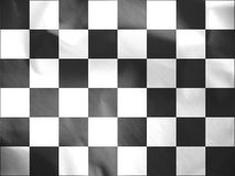 Auto Racing Chequered Flag. 3D Rendered Auto Racing Chequered Flag stock illustration