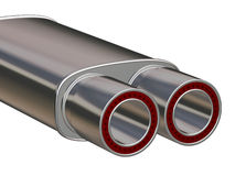 Auto Racing Silencer. On white - path included Royalty Free Stock Photography