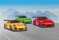 Auto racing. Vector illustration -  Created with adobe illustrator. background, are Created separately Stock Images