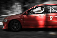 Auto rally. Racing car during the rrally, creative edition Stock Photo