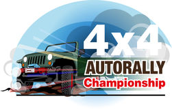 Auto rally championship. Vector abstract, auto rally championship logo event Royalty Free Stock Photo