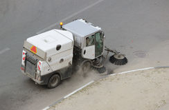 Auto-Reiniger ist diese Reinigung für Bürgersteige und Höfe lizenzfreies stockbild