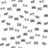 Auto-Reinigung und Service-nahtloser Muster-Vektor lizenzfreie abbildung