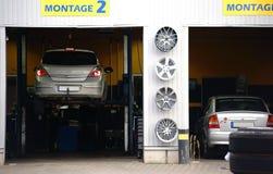 Auto remontowy sklep Zdjęcie Royalty Free