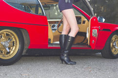 Auto-Rennläufer Stockfoto