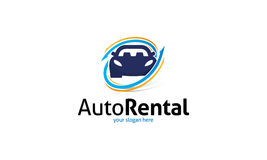 Auto Rental Logo stock illustration