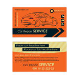 Auto repair business card template. Create your own business cards. Stock Photo