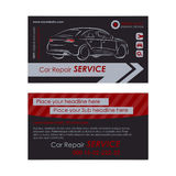 Auto repair business card template. Create your own business cards. Stock Image