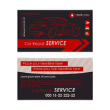 Auto repair business card template. Create your own business cards. Stock Images