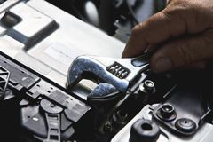 Auto repair concept. Professional car mechanic, auto repair concept Stock Photo