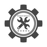 Auto repair design gray gear. On white background royalty free illustration