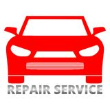 Auto repair design red sign. Auto repair design red on white background stock illustration