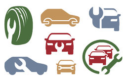 Auto repair elements. Set. Vector symbols Stock Photography