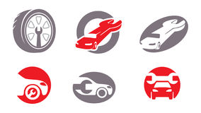 Auto repair elements. Vol. 2. Car repair symbols and emblems Royalty Free Stock Images