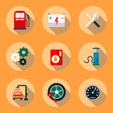 Auto repair flat style icons set Royalty Free Stock Images