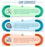 Auto repair flyer ads page background Stock Image