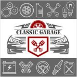 Auto repair Icons and service logo Royalty Free Stock Images