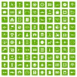 100 auto repair icons set grunge green. 100 auto repair icons set in grunge style green color isolated on white background vector illustration Royalty Free Stock Photography