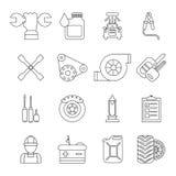 Auto repair icons set, outline style Stock Photos