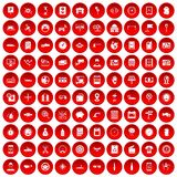 100 auto repair icons set red. 100 auto repair icons set in red circle isolated on white vector illustration royalty free illustration