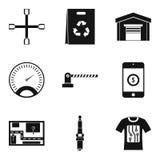 Auto repair icons set, simple style Stock Photos