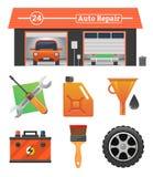 Auto repair icons set Stock Image