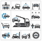 Auto repair icons Royalty Free Stock Photos