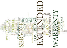 Auto Repair Insurance Extended Warranties Myths And Facts Word Cloud Concept royalty free illustration